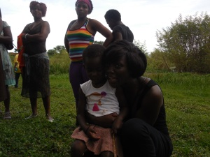Auntie Winnie with Amina!